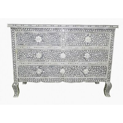 Montanez Mother of Pearl 4 Drawers Accent Chest Color: Gray