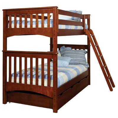 Bonneau Traditional Twin Bunk Bed with Storage