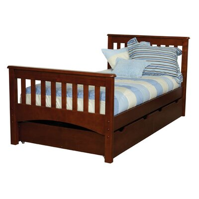 Bonneau Traditional Twin Slat Bed with Storage