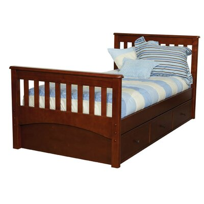 Bonneau Twin Slat Bed with Storage