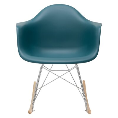 Elsa Rocking Chair Color: Teal