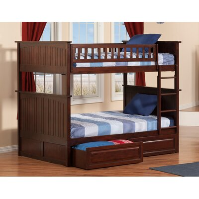Maryellen Bunk Bed with Storage Size: Twin over Twin, Color: Caramel Latte