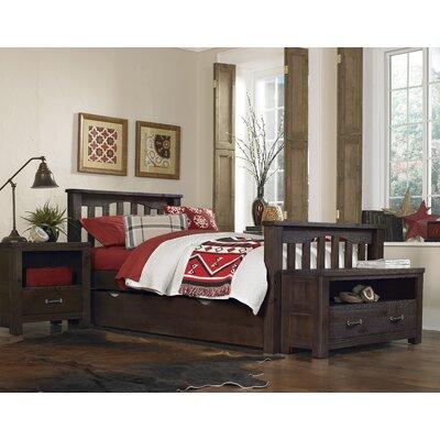 Malbon Slat Bed Size: Twin, Color: Espresso