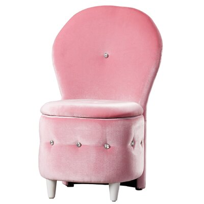 Orchard Hill Storage Stool Color: Pink