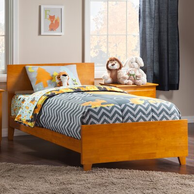 Greyson Panel Bed Size: Twin XL, Color: Caramel Latte