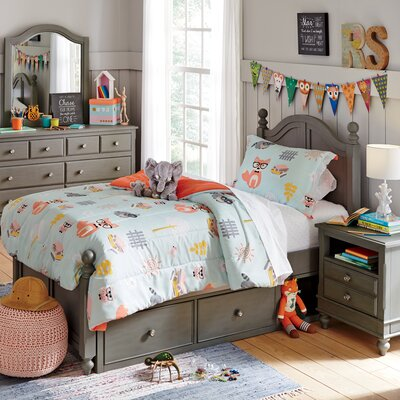 Javin Panel Bed Size: Twin, Number of Drawers: 1