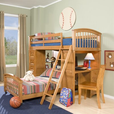 Javin Student Loft Bed with Twin Lower Bed