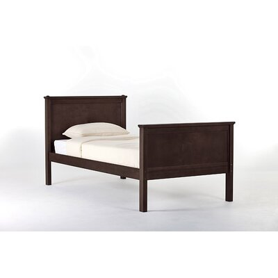 Lyric Panel Bed Size: Twin, Color: Chocolate