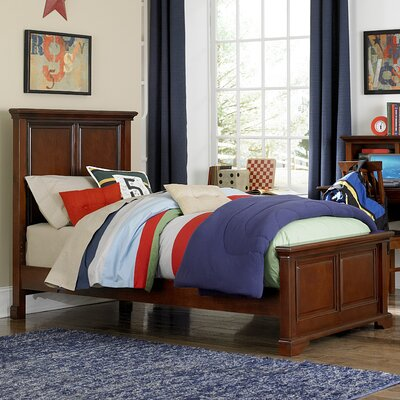 Ayalisse Traditional Solid Wood Panel Bed Size: Twin, Color: Chestnut