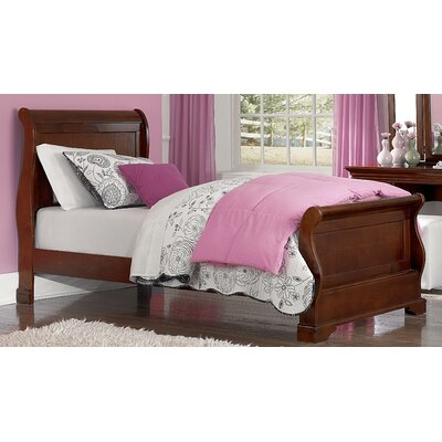 Ayalisse Wood Sleigh Bed Color: Chestnut, Size: Full