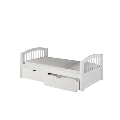 Oakwood Traditional Twin Slat Bed with Storage