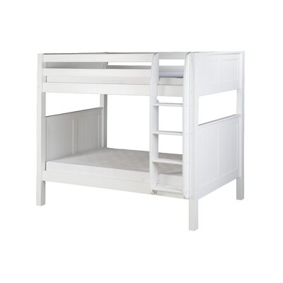 Oakwood Traditional Twin over Twin Bunk Bed Finish: White