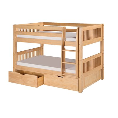 Oakwood Twin Wood Bunk Bed with Storage