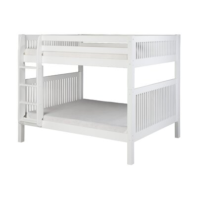 Oakwood Full Over Full Bunk Bed Color: White