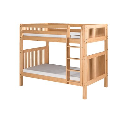 Oakwood Twin over Twin Bunk Bed Finish: Natural