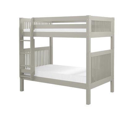 Oakwood Twin over Twin Bunk Bed Finish: Grey