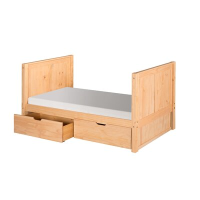 Oakwood Twin Panel Bed Color: Natural