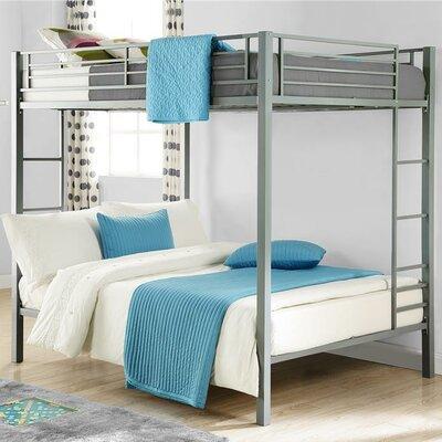 Madeline Full Over Full Bunk Bed Frame Color: Silver