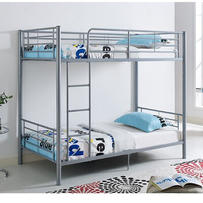 Malia Twin over Twin Bunk Bed Color: Silver