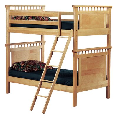 Bonneau Twin Futon Bunk Bed Color: Cherry