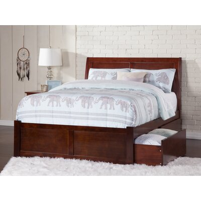 Deandre Platform Bed with Drawers Size: Queen, Color: Antique Walnut