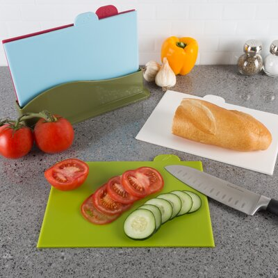 5 Piece Plastic Cutting Board Set