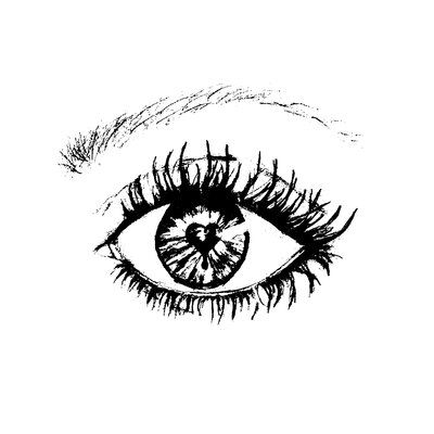 Heartelier Eye Painting Print