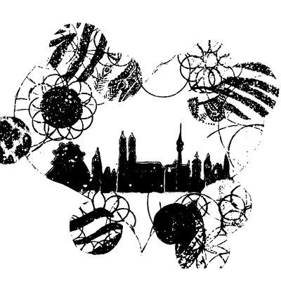 Heartelier Munich Heart Painting Print