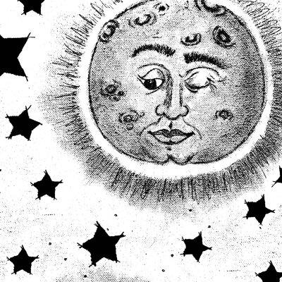 Heartelier Moonman Painting Print