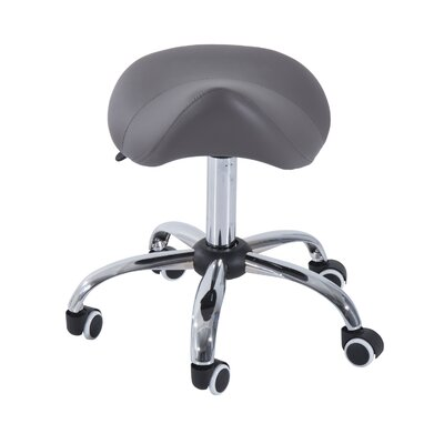 Height adjustable massage chair Upholstery: Grey