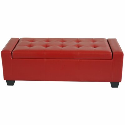 Storage Bench Upholstery Color: Red