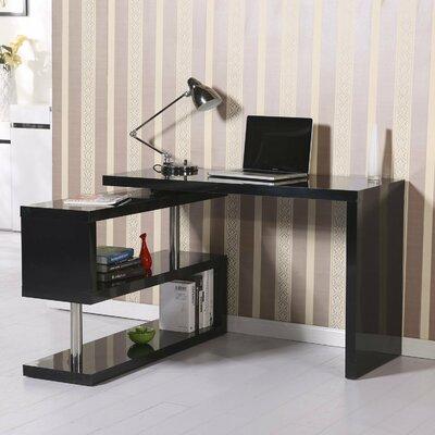 Rotating L-Shape Desk Finish: Black