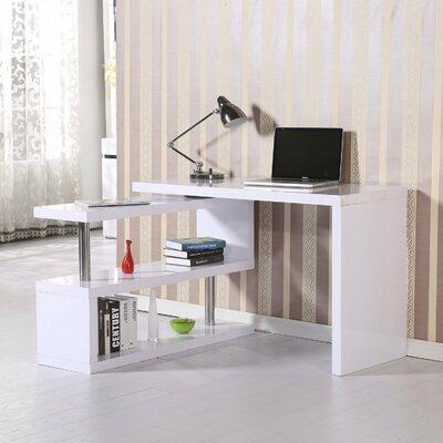 Rotating L-Shape Desk Finish: White