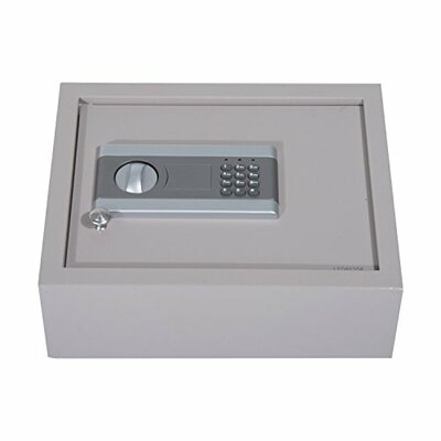 "Safe Box with Electronic Lock Size: 5"" H x 15"" W x 12"" D, Lock Type: Electronic"