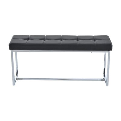 Higdon Metal Entryway Bench Upholstery: Black