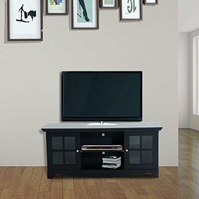 "Mcgrady Storage 56"" TV Stand Color: Black"