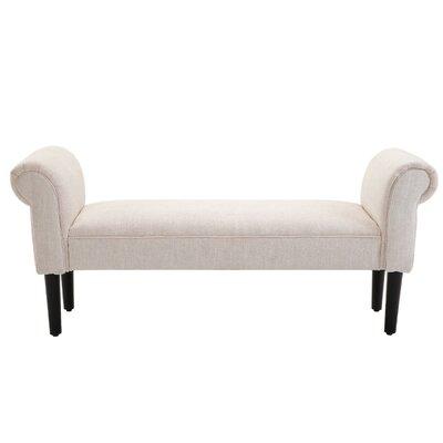 Abram Vanity Accent Upholstered Bench Upholstery: Cream White