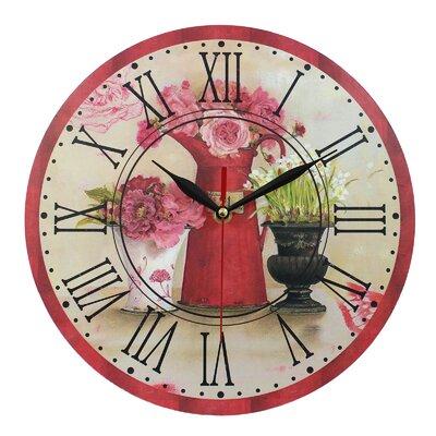 Obique 28cm Romantic Flowers Wall Clock