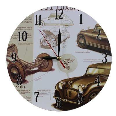 Obique Nostalgic Retro 28cm Cars Wall Clock