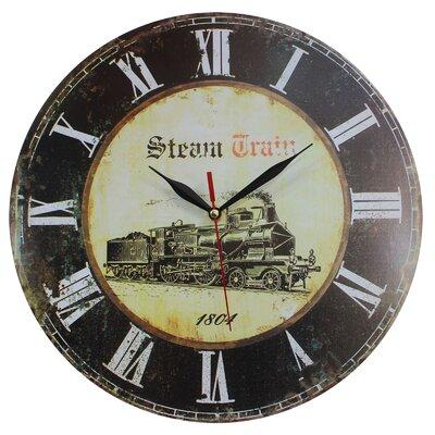 Obique 34cm Steam Train Wall Clock
