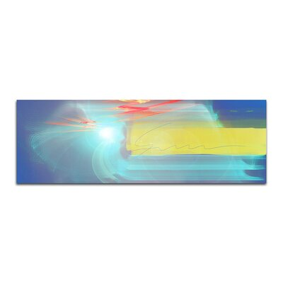 PaulSinusArt Enigma Panorama Abstrakt 012 Painting Print on Canvas