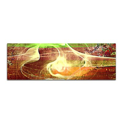 PaulSinusArt Enigma Panorama Abstrakt 013 Painting Print on Canvas