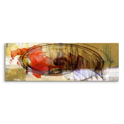 PaulSinusArt Enigma Panorama Abstrakt 1313 Painting Print on Canvas
