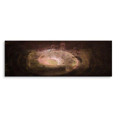 PaulSinusArt Enigma Panorama Abstrakt 1486 Painting Print on Canvas