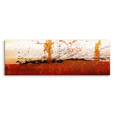 PaulSinusArt Enigma Panorama Abstrakt 699 Painting Print on Canvas