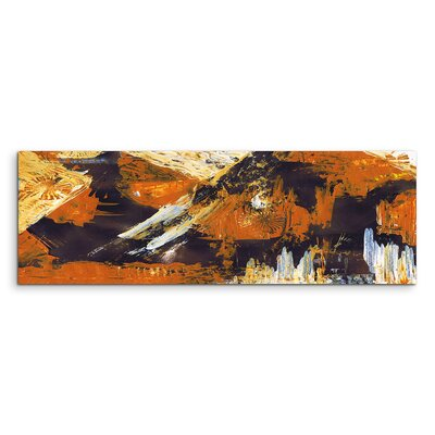 PaulSinusArt Enigma Panorama Abstrakt 862 Painting Print on Canvas