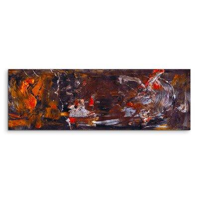 PaulSinusArt Enigma Panorama Abstrakt 879 Painting Print on Canvas