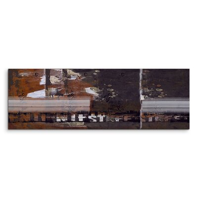 PaulSinusArt Enigma Panorama Abstrakt 880 Painting Print on Canvas