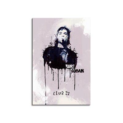 PaulSinusArt Enigma Kurt Cobain Painting Print on Canvas