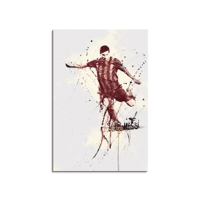 PaulSinusArt Enigma Lionel Messi FC Barcelona Painting Print on Canvas